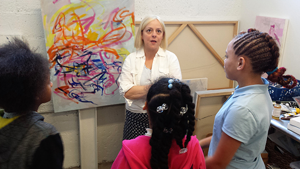 Children Learning Though Art in Inspirational Pathways